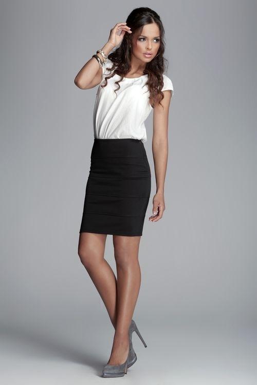 Dámská sukně Figl M084 černá (velikost L)
