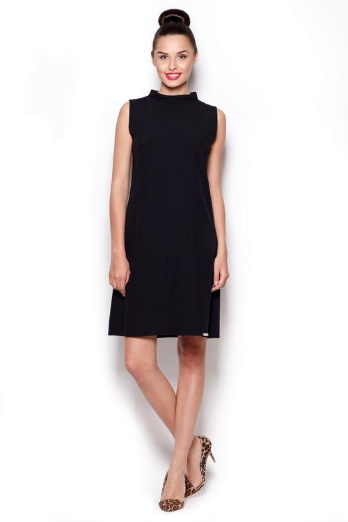 Dámské šaty Figl M299 černé (velikost S)