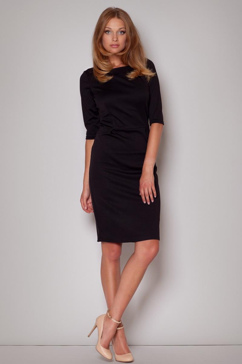Dámské šaty Figl M202 černé (velikost S)
