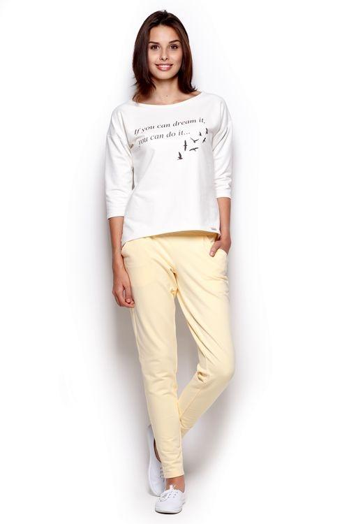 Dámské kalhoty Figl M305 žluté (velikost S)