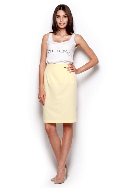 Dámská sukně Figl M308 žlutá (velikost L)