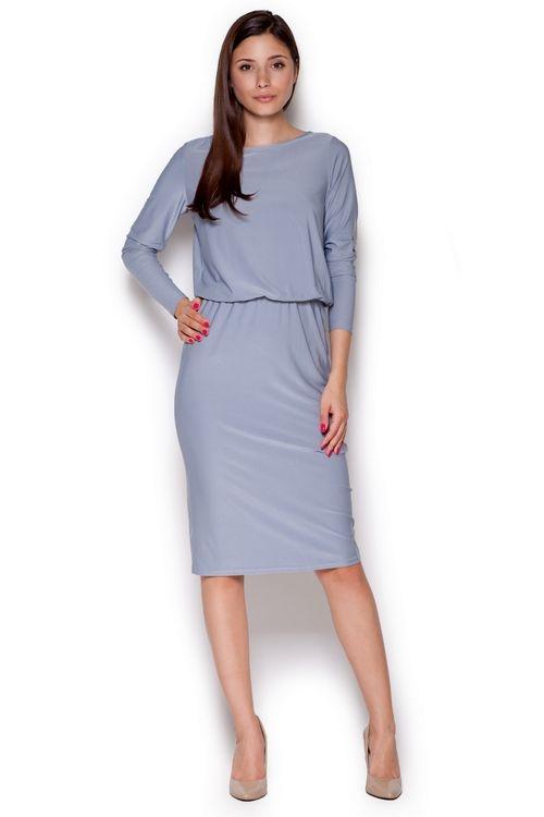 Dámské šaty Figl M326 šedé (velikost S)