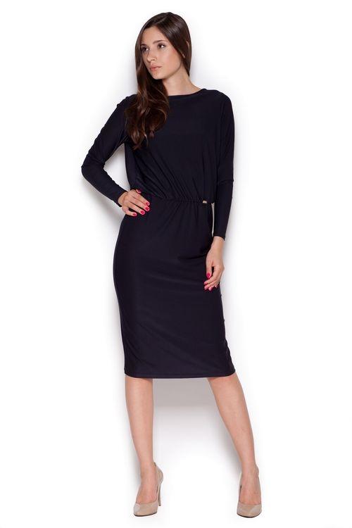 Dámské šaty Figl M326 černé (velikost S)