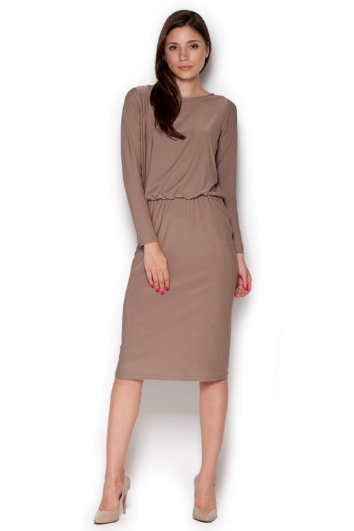 Dámské šaty Figl M326 béžové (velikost S)