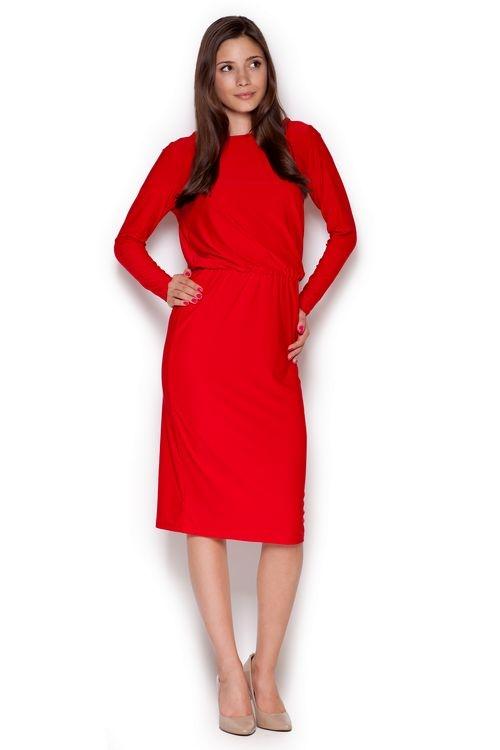 Dámské šaty Figl M326 červené (velikost S)