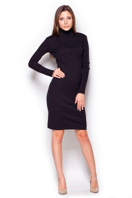 Dámské šaty Figl M332 černé (velikost S)