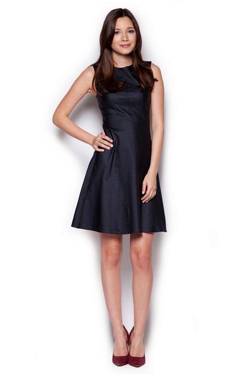Dámské šaty Figl M342 černé (velikost S)