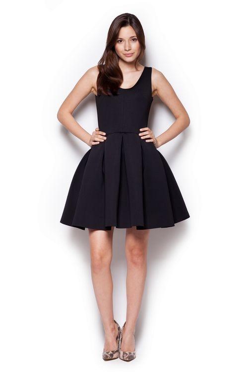 Dámské šaty Figl M344 černé (velikost S)