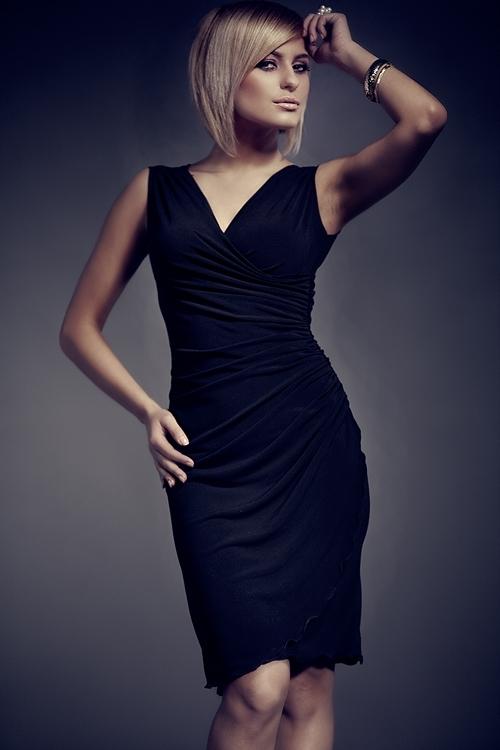 Dámské šaty Figl M053 černé (velikost S)