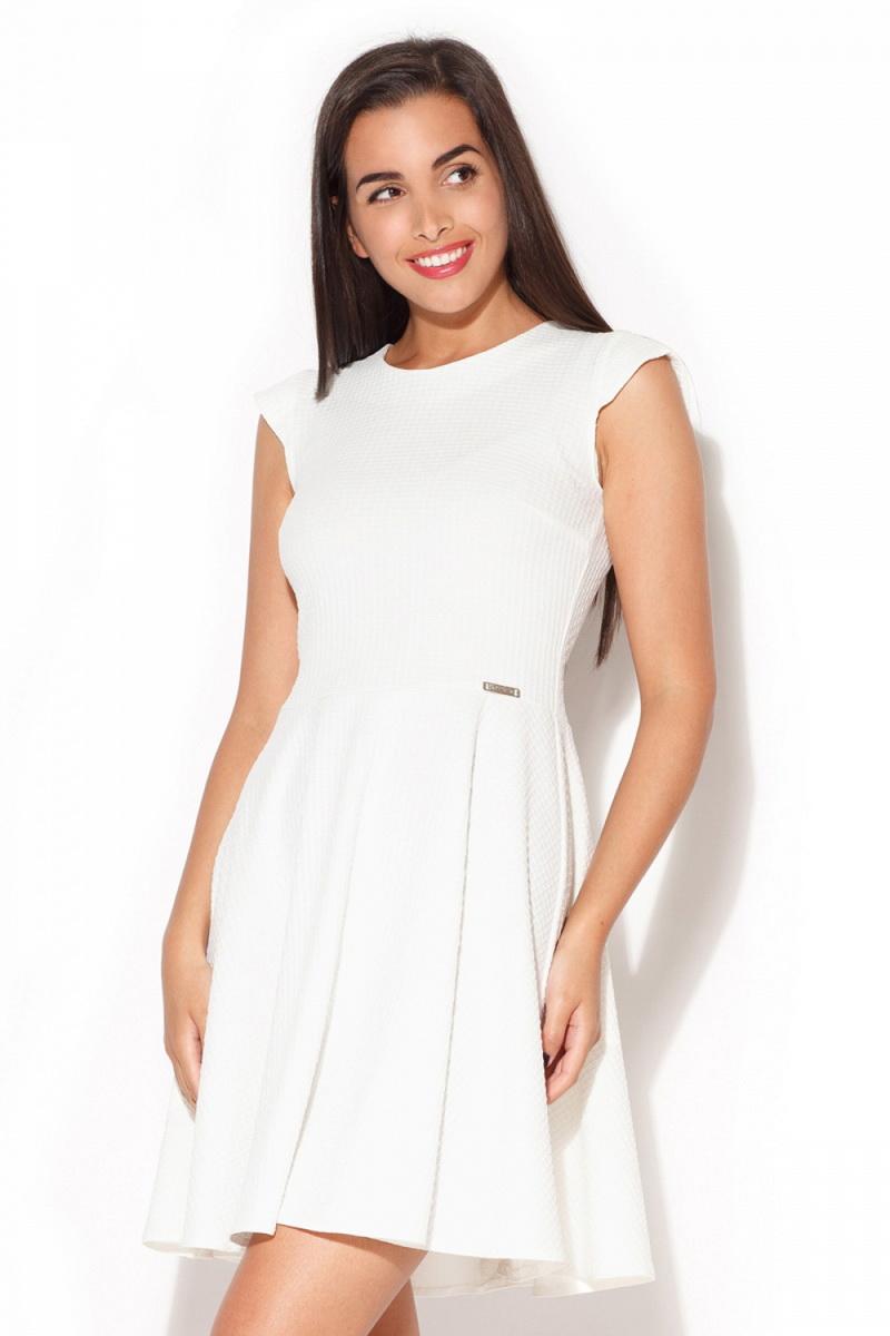 Dámské šaty Katrus K162 krémové (velikost S)