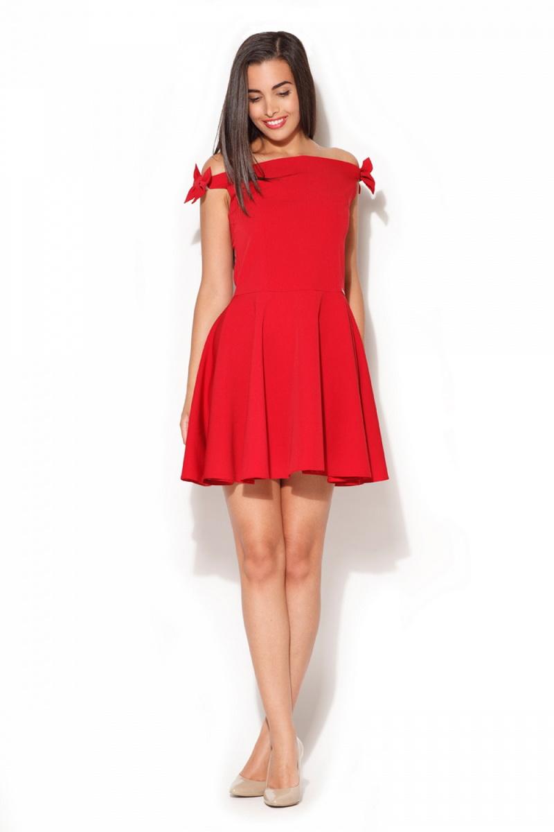 Dámské šaty Katrus K170 červené (velikost XL)