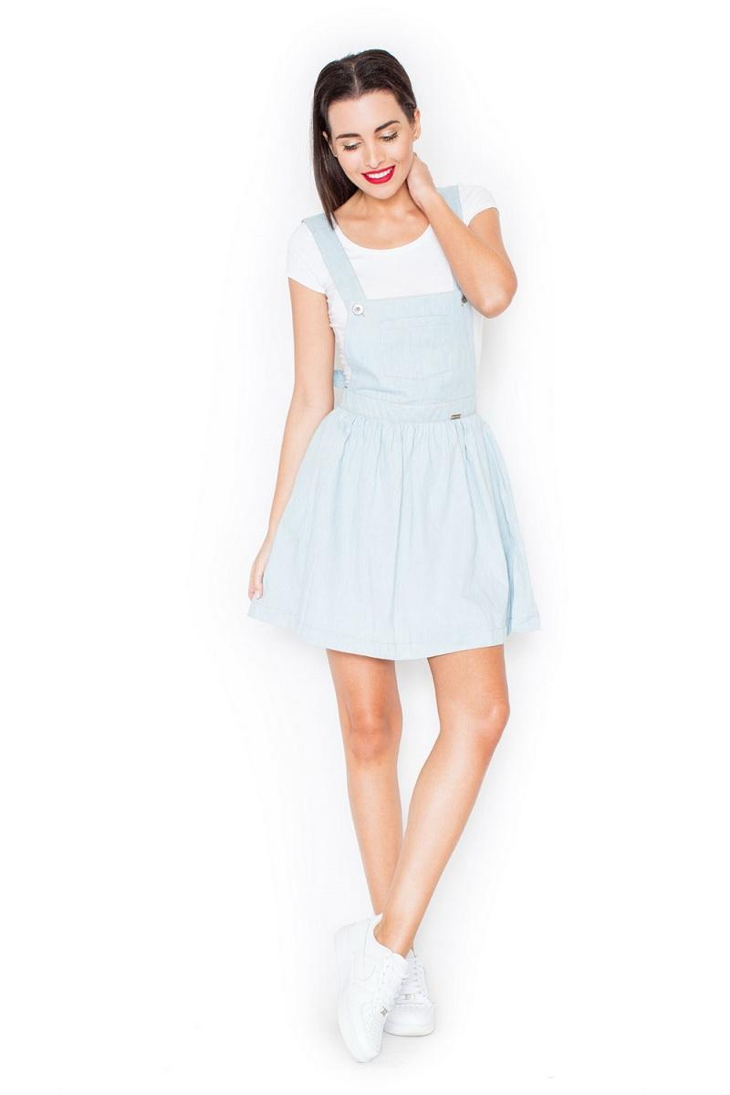 Dámské šaty Katrus K191 světle modré (velikost S)