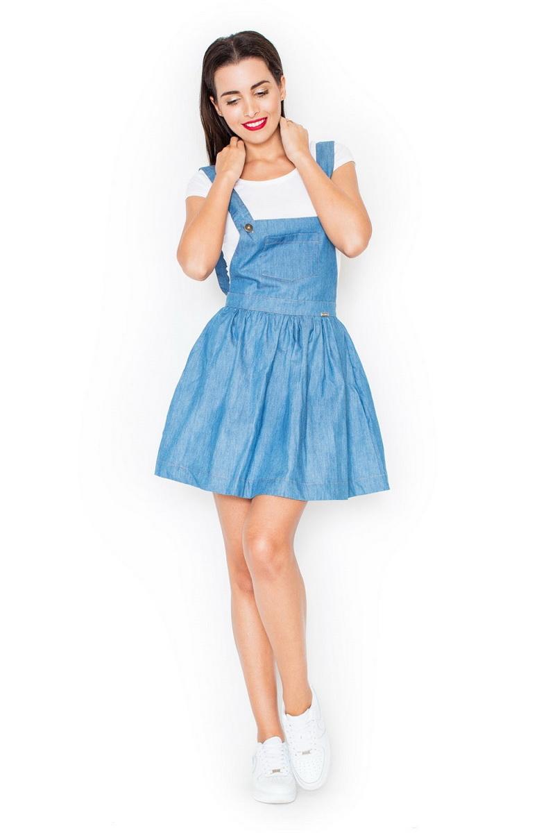 Dámské šaty Katrus K191 modré (velikost S)