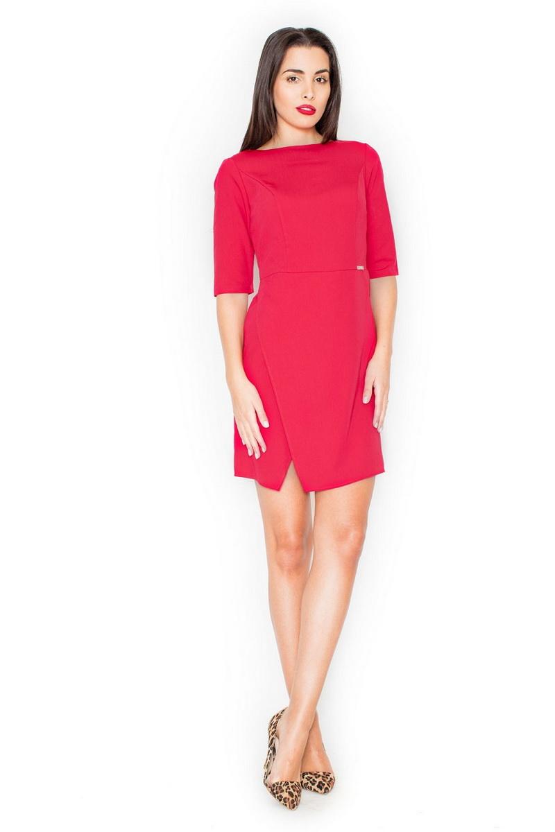 Dámské šaty Katrus K200 červené (velikost XL)
