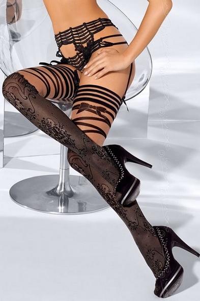 Dámské punčochy Axami V-5204 FRENCH KISS černé (velikost S/M)