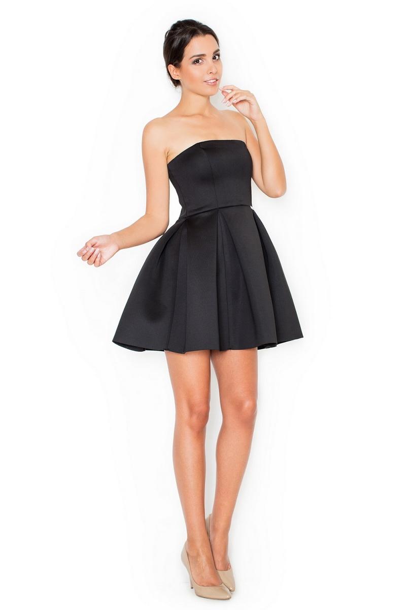 Dámské šaty Katrus K223 černé (velikost S)