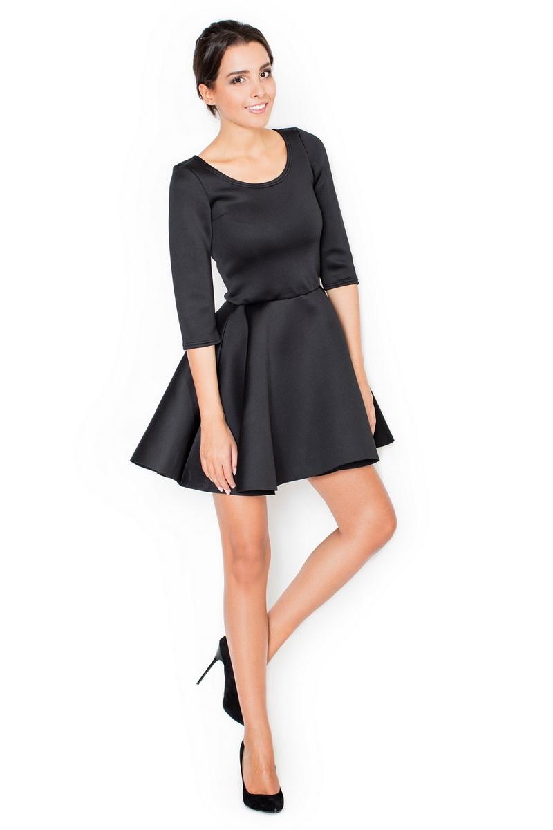 Dámské šaty Katrus K227 černé (velikost S)