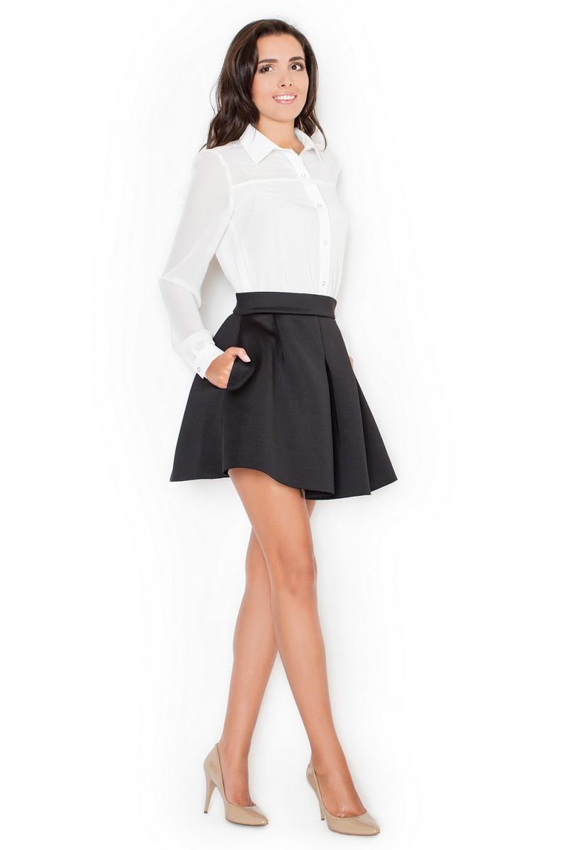 Dámská sukně Katrus K228 černá (velikost S)