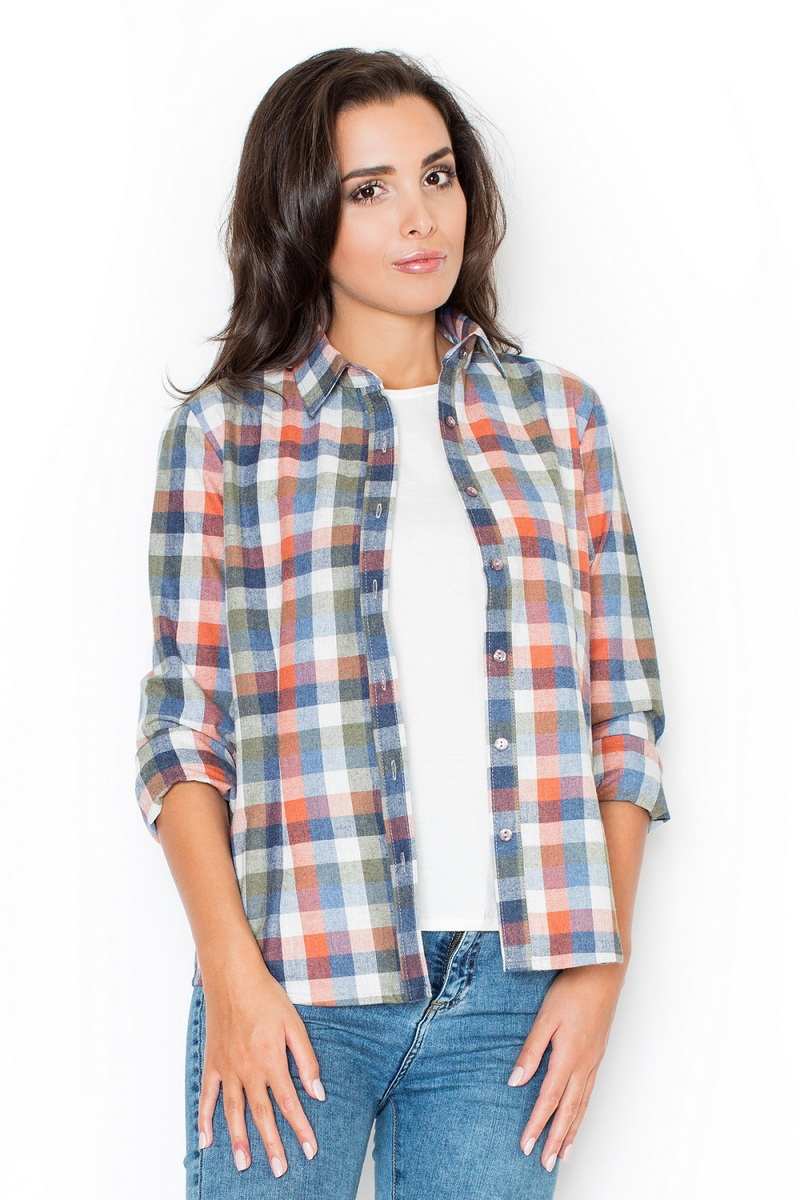 Dámská košile Katrus K241 barevná (velikost S)