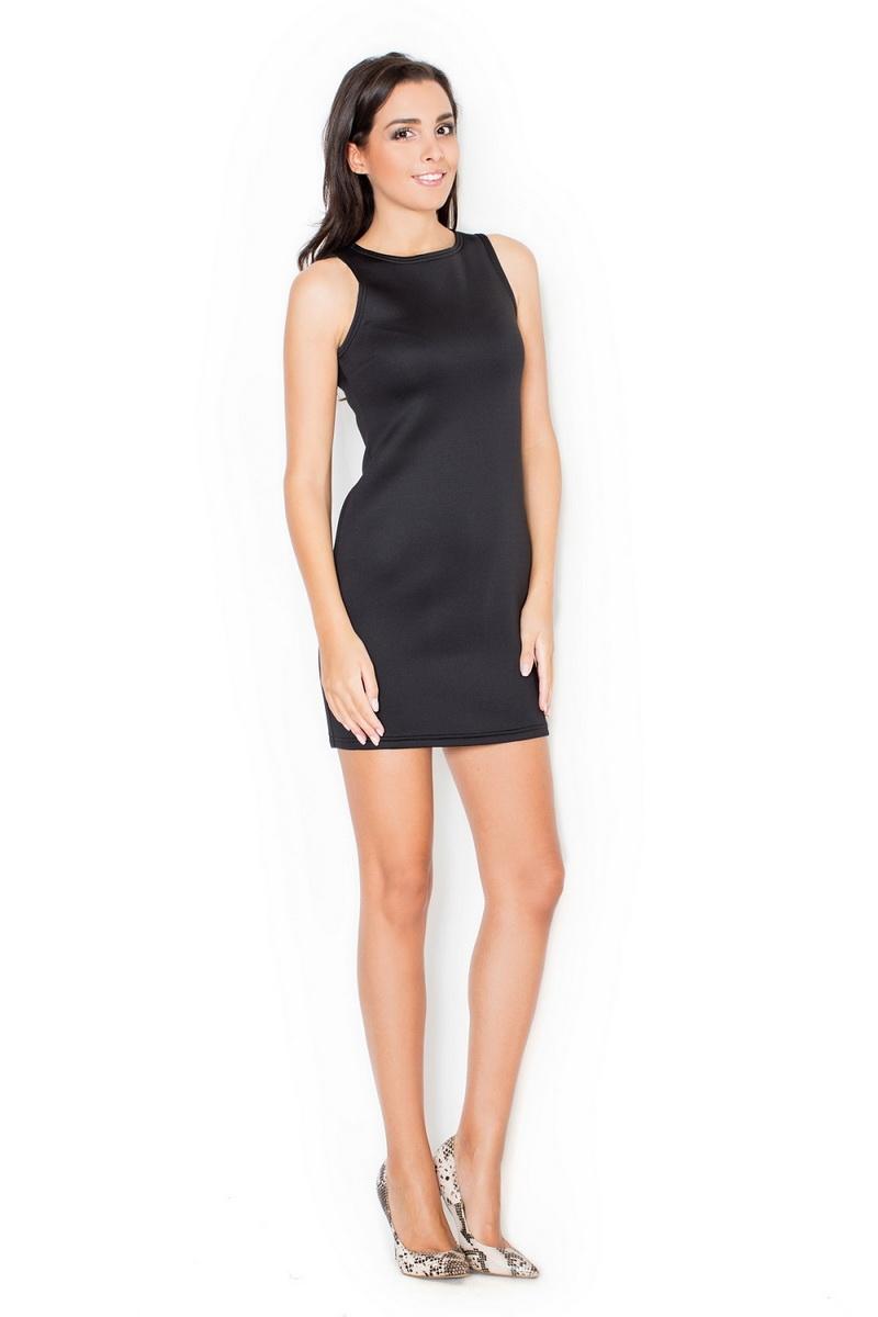 Dámské šaty Katrus K243 černé (velikost S)