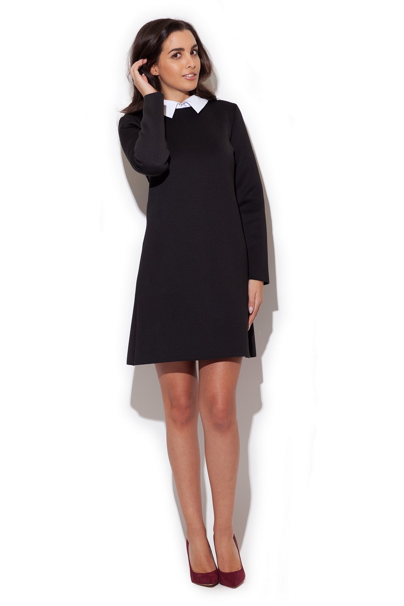 Dámské šaty Katrus K245 černé (velikost S)