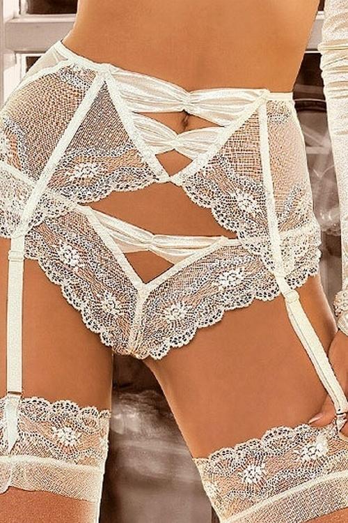 Dámské kalhotky Roza Essme krémové (velikost XL)