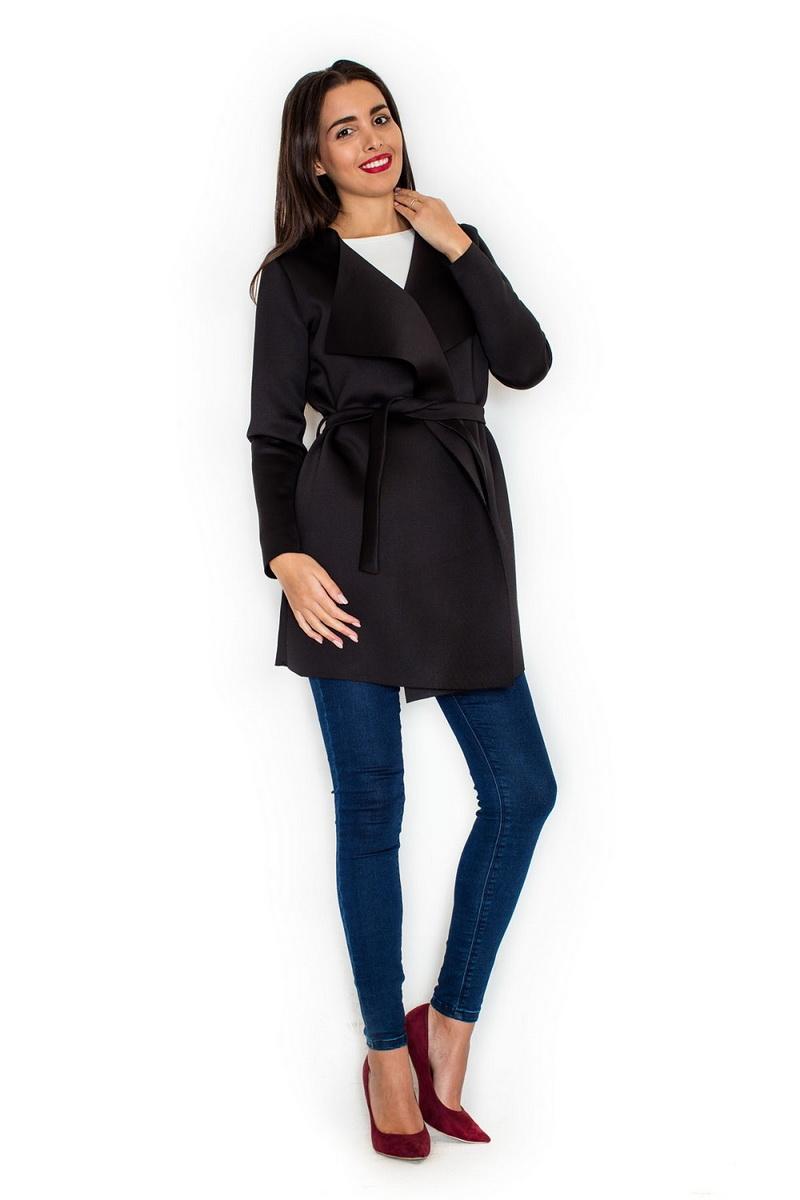 Dámský kabát Katrus K257 černý (velikost XL)