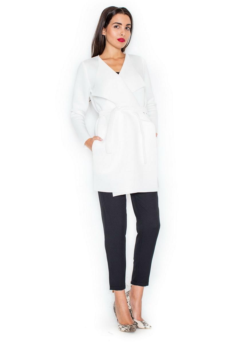 Dámský kabát Katrus K257 krémový (velikost XL)