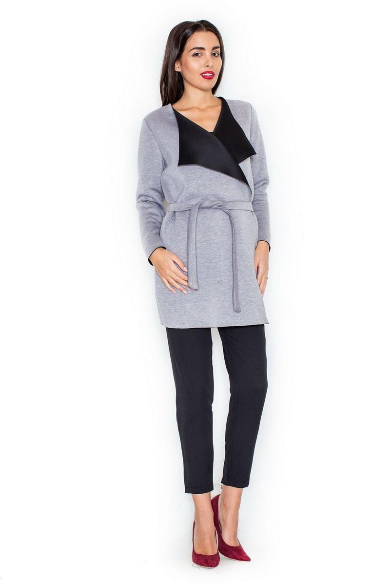 Dámský kabát Katrus K257 šedý (velikost XL)