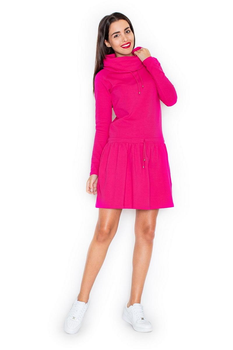Dámské šaty Katrus K260 fuchsiové (velikost S)