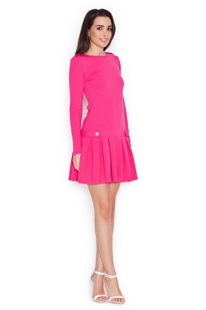 Dámské šaty Katrus K267 fuchsiové (velikost S)