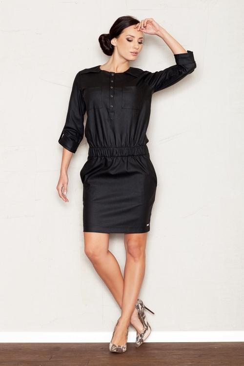 Dámské šaty Figl M360 černé (velikost S)