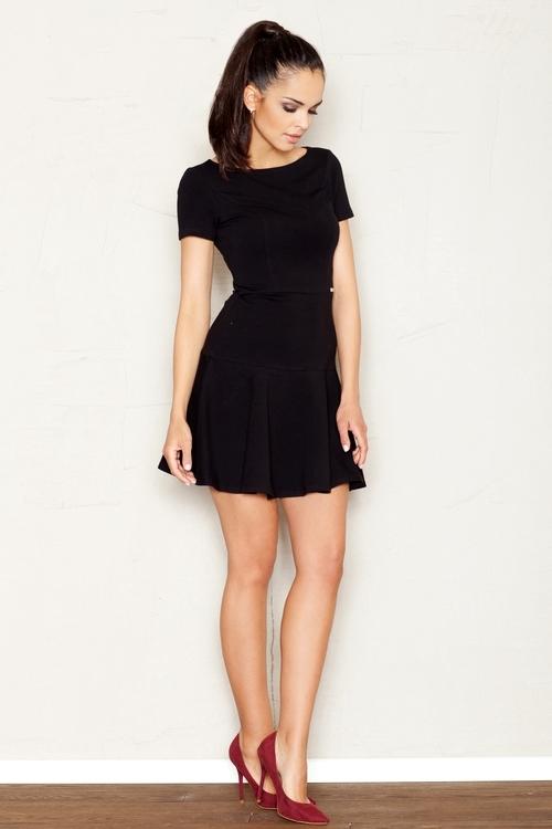 Dámské šaty Figl M363 černé (velikost S)