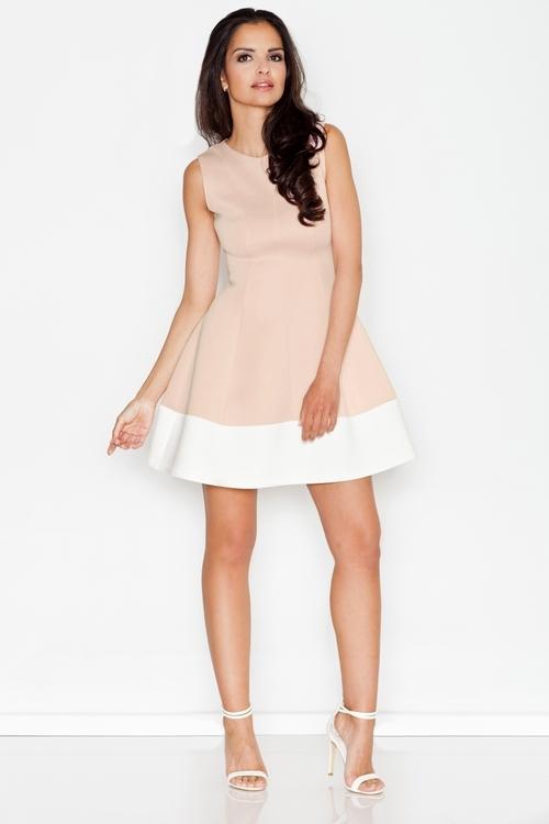 Dámské šaty Figl M373 béžové (velikost S)