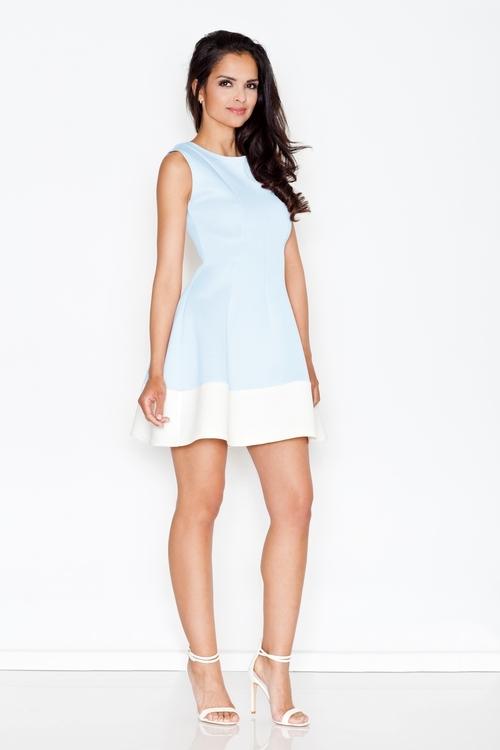 Dámské šaty Figl M373 modré (velikost S)