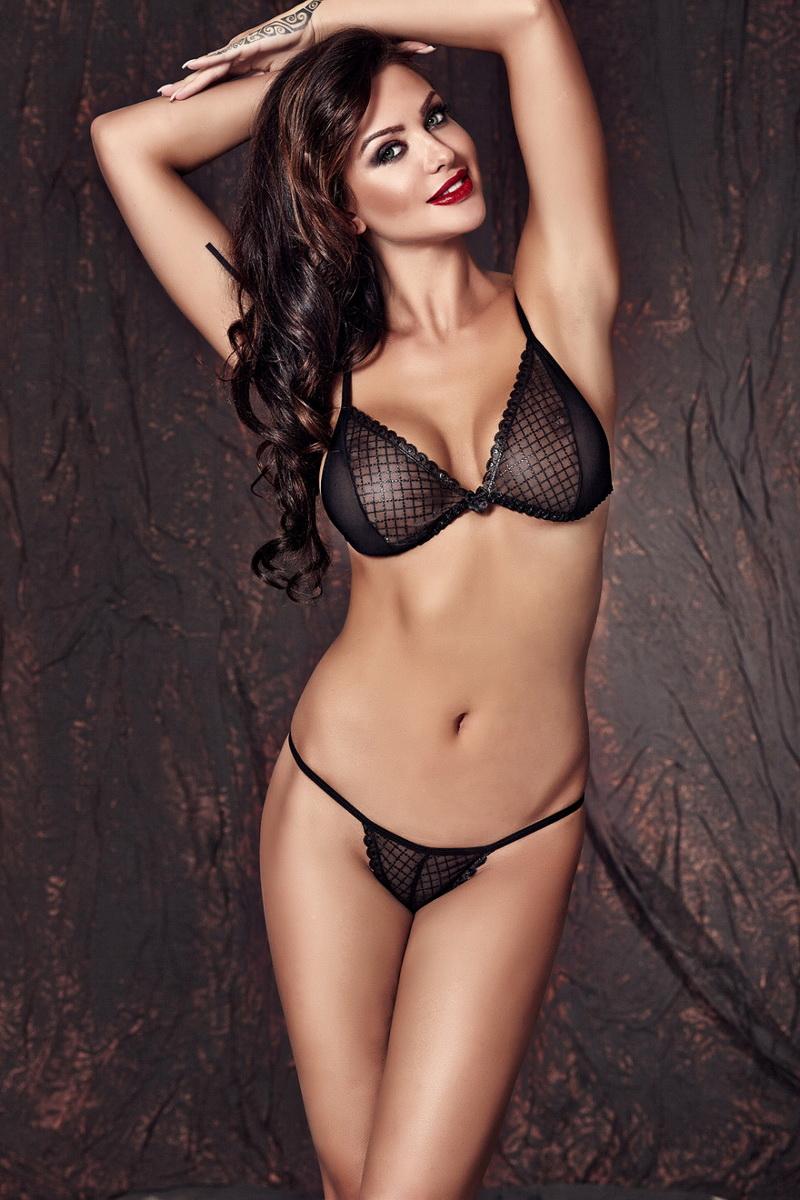 Erotická souprava Anais Clover černá (velikost XL)
