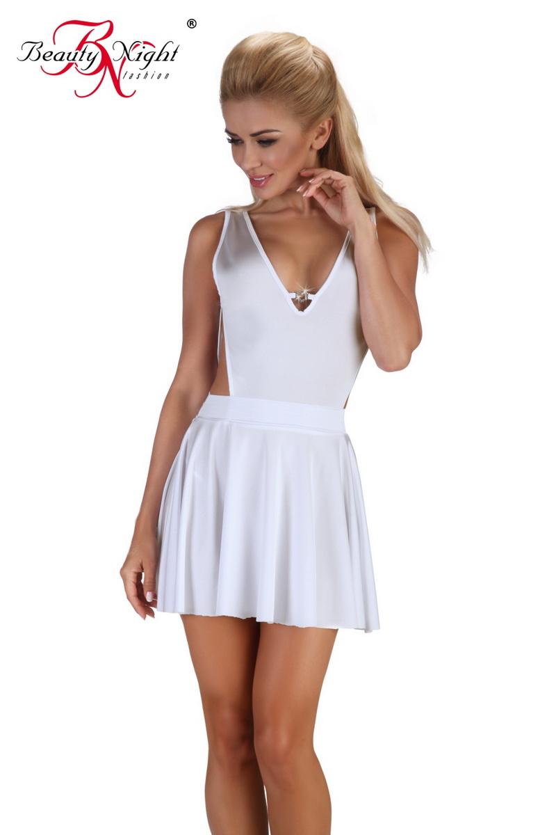 Dámské šaty Beauty Night Fashion Severine bílé (velikost S/M)