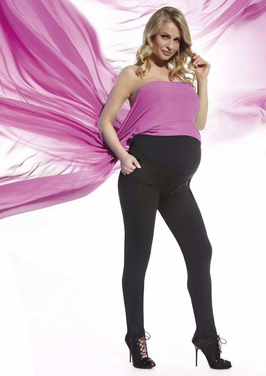 Těhotenské legíny BasBleu Camile černé (velikost XXL)