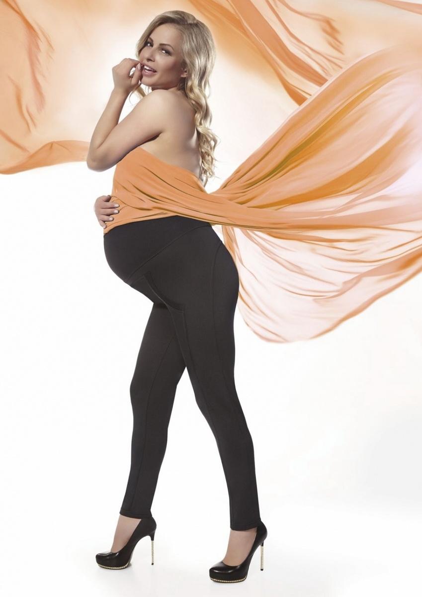 Těhotenské legíny BasBleu Stefanie černé (velikost XXL)