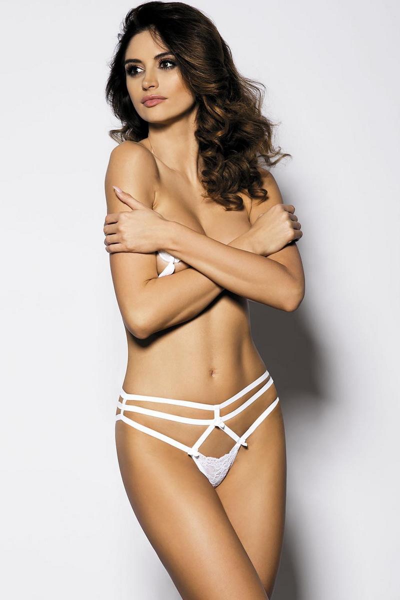 Erotické tanga Anais Cayenne bílé (velikost XXXL)