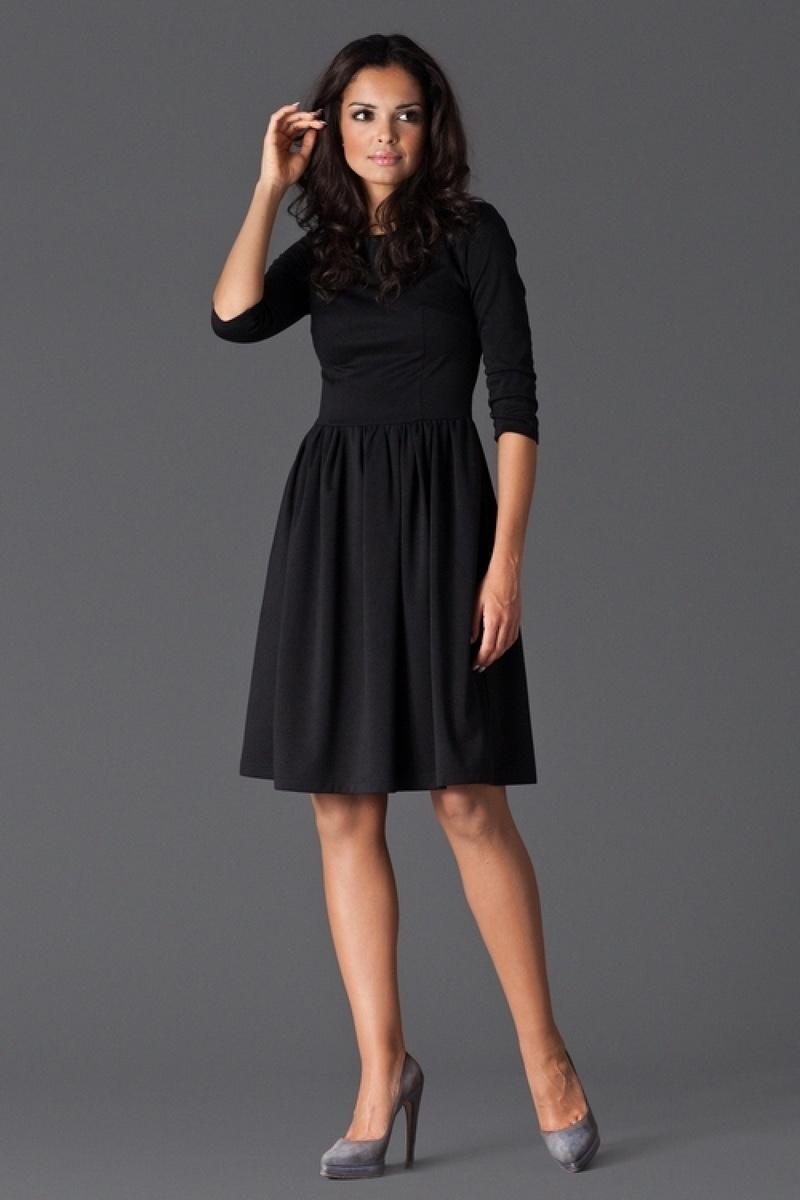 Dámské šaty Figl M117 černé (velikost M)