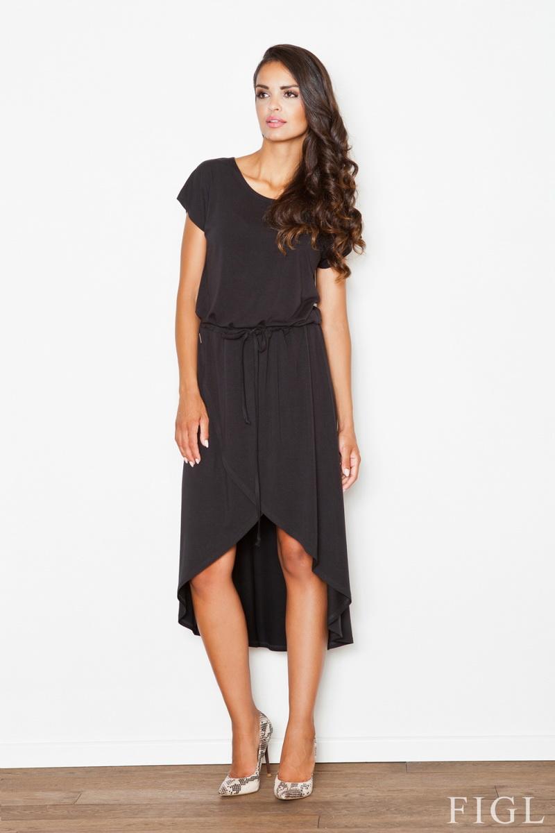 Dámské šaty Figl M394 černé (velikost S)