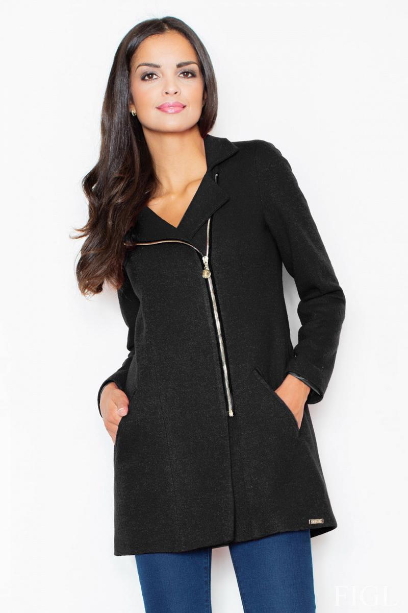 Dámský kabát Figl M405 černý (velikost S)