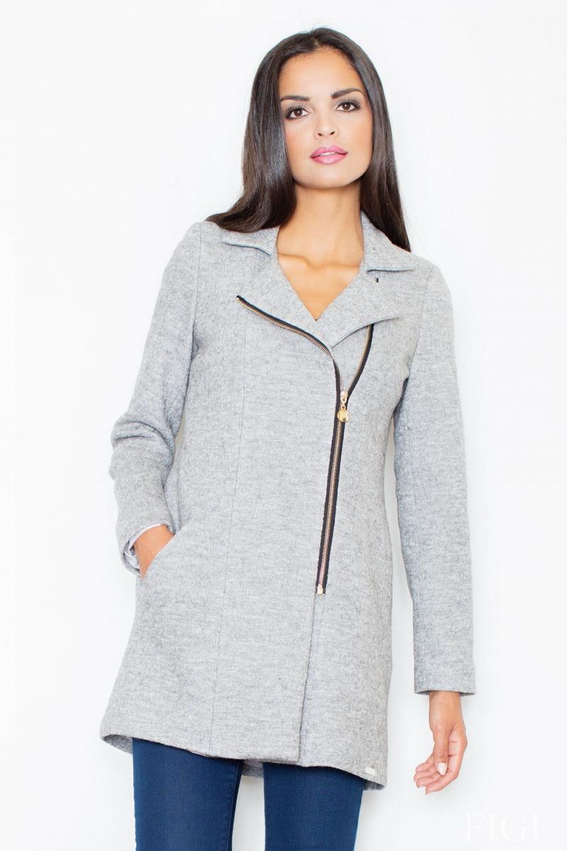 Dámský kabát Figl M405 šedý (velikost S)