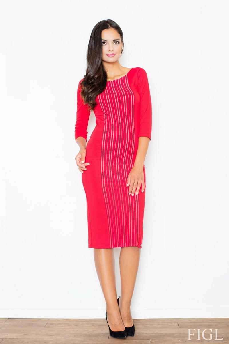 Dámské šaty Figl M411 červené (velikost XL)