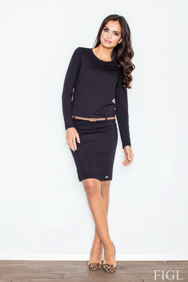 Dámské šaty Figl M414 černé (velikost S)