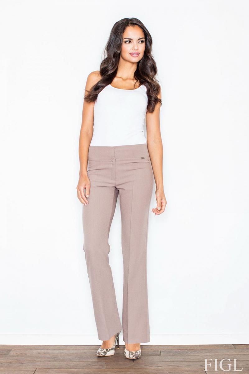 Dámské kalhoty Figl M420 hnědé (velikost L)