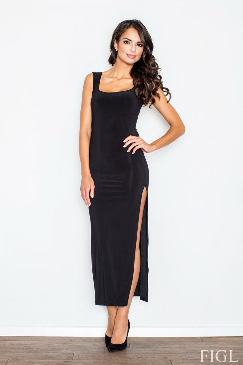 Dámské šaty Figl M425 černé (velikost S)