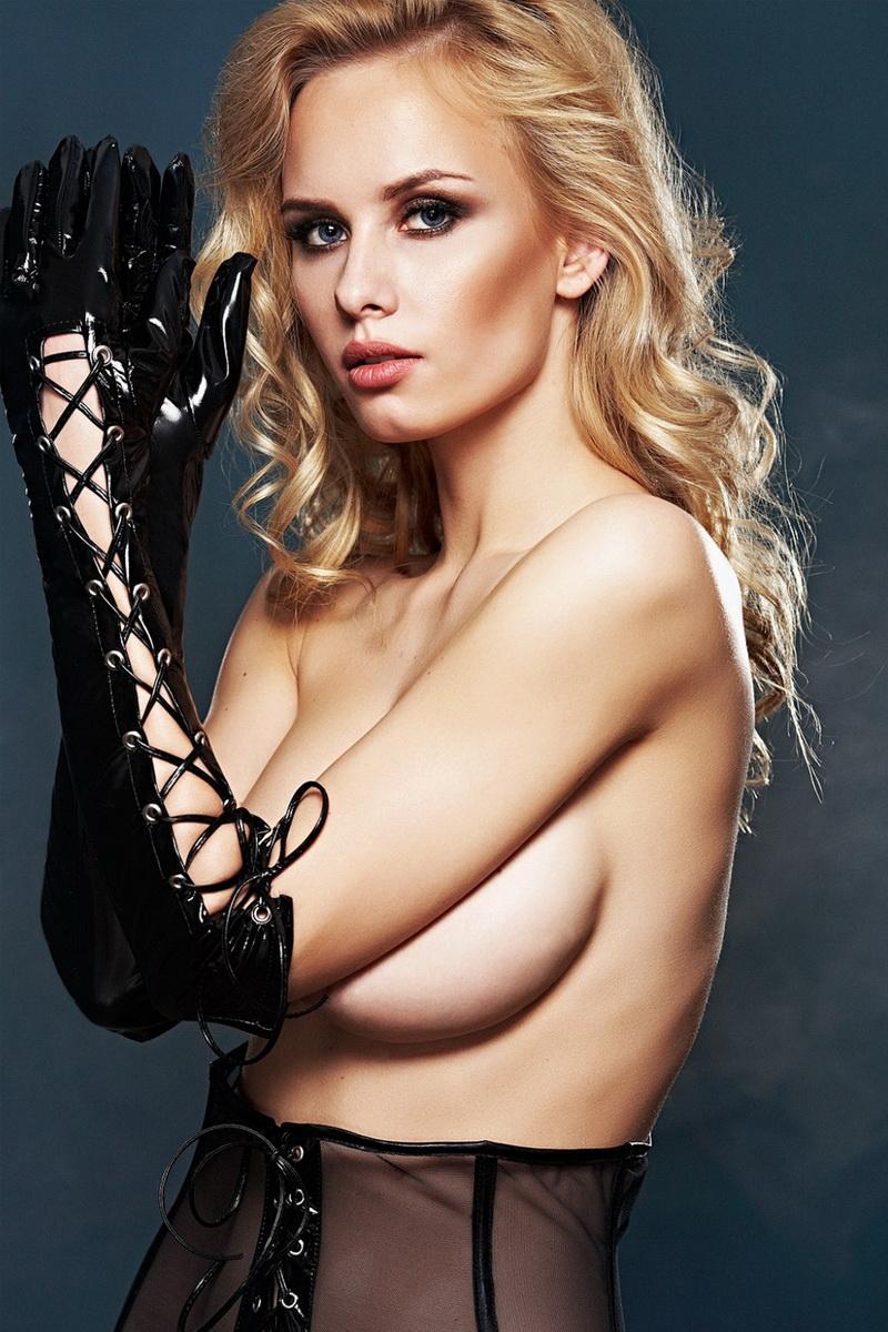 Erotické rukavičky 7-Heaven A0212 černé (velikost S/M)