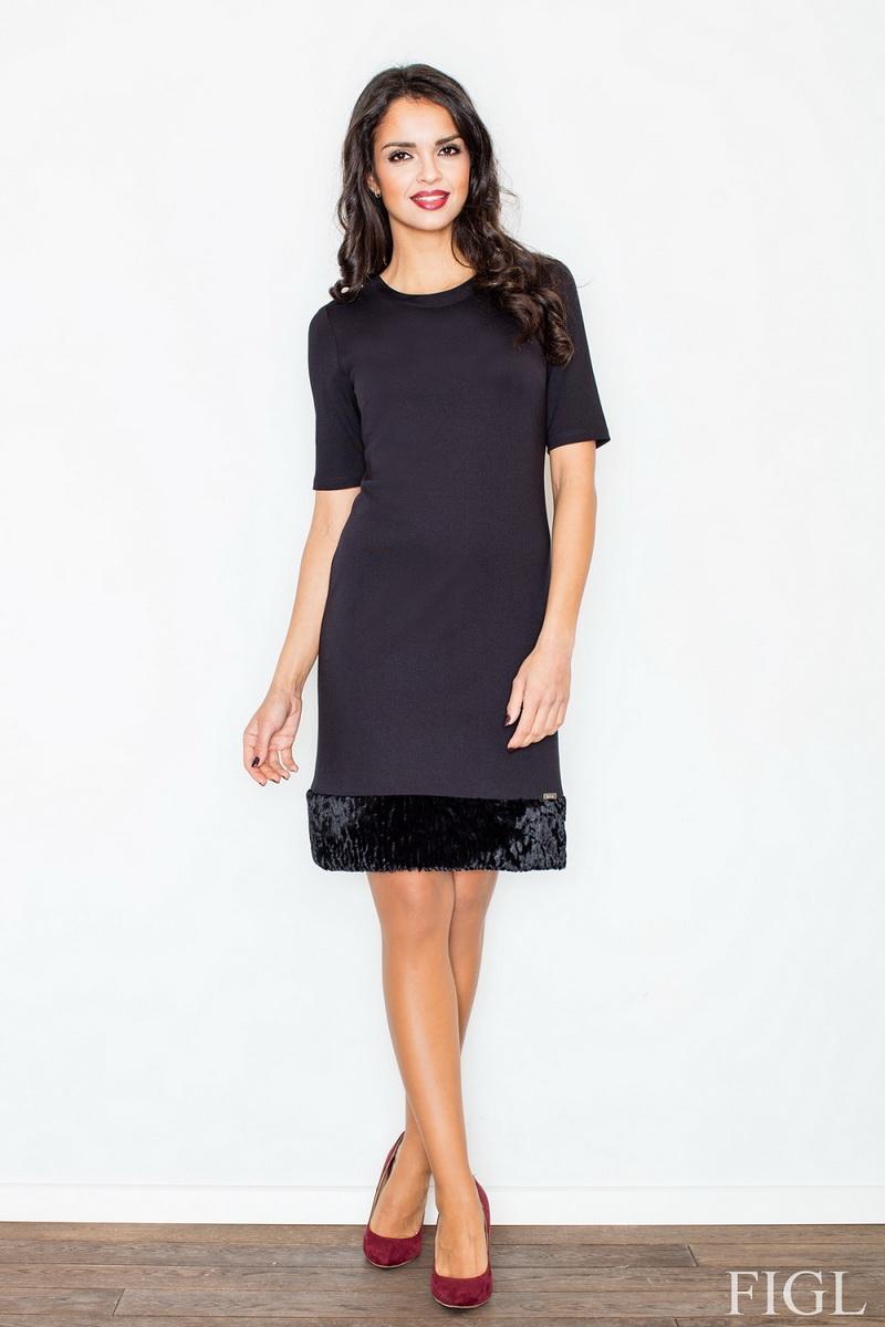 Dámské šaty Figl M429 černé (velikost S)
